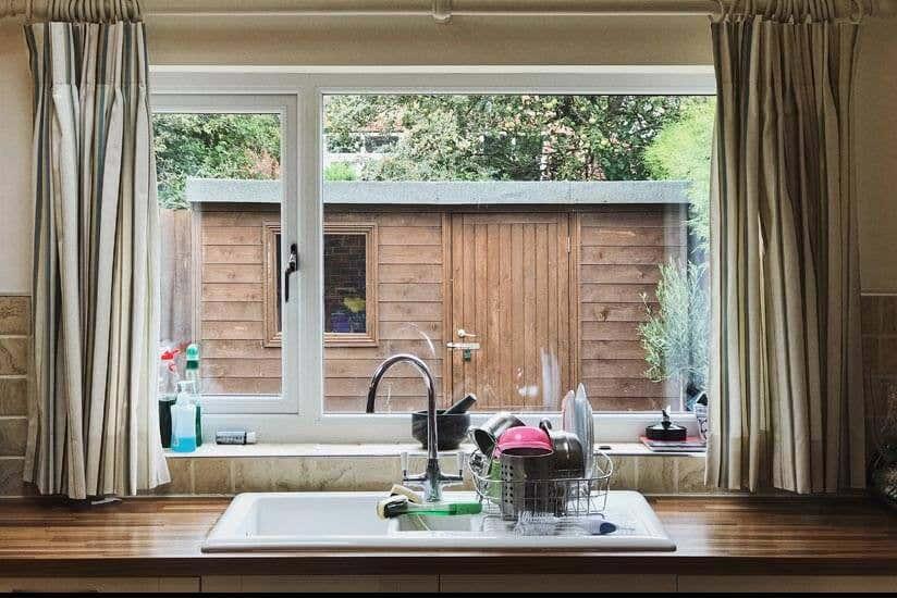 Küche Spühle Gartenhaus