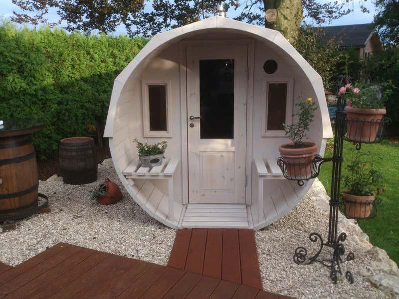 2 raum fass sauna modell max mit harvia holz ofen a z. Black Bedroom Furniture Sets. Home Design Ideas