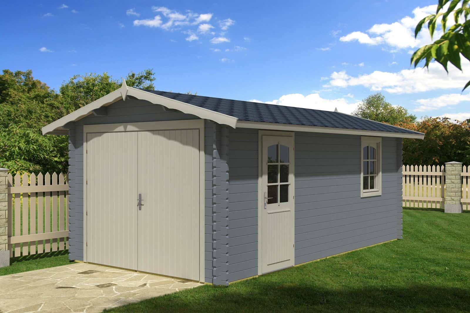 holzgaragen kaufen garagen aus holz bis zu 20 reduziert. Black Bedroom Furniture Sets. Home Design Ideas