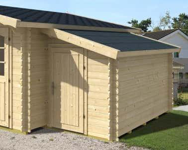 Gartenhaus Mit Anbau Holz