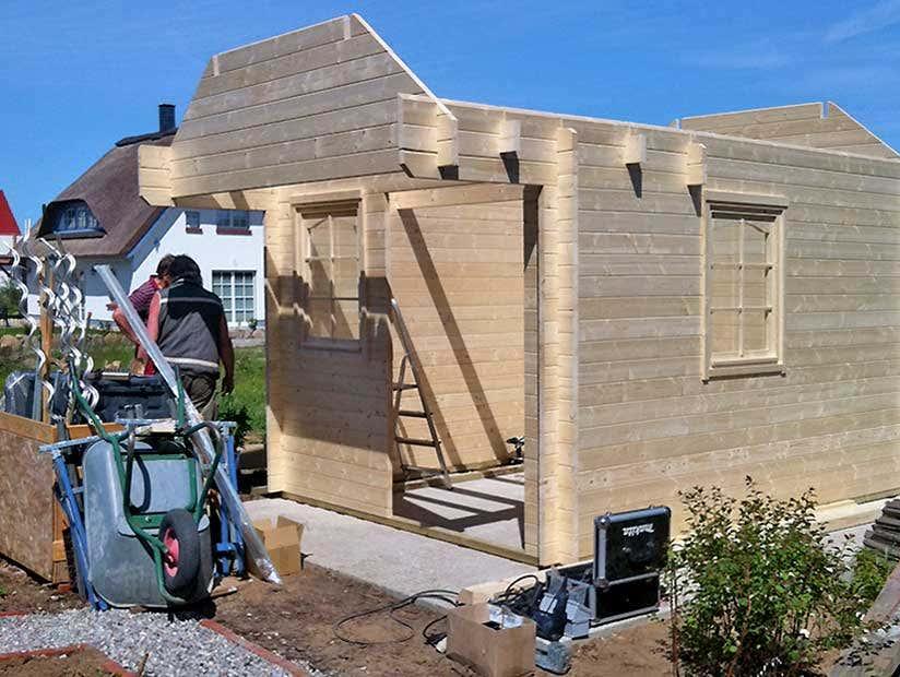 Gartenhaus Aufbau fortgeschritten