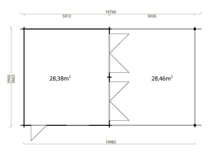 Beliebt Doppelgarage mit Carport Modell Falun-44 ISO WE55