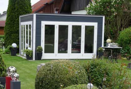 Kubus-Gartenhäuser - moderne Gartenhäuser in Würfel-Optik