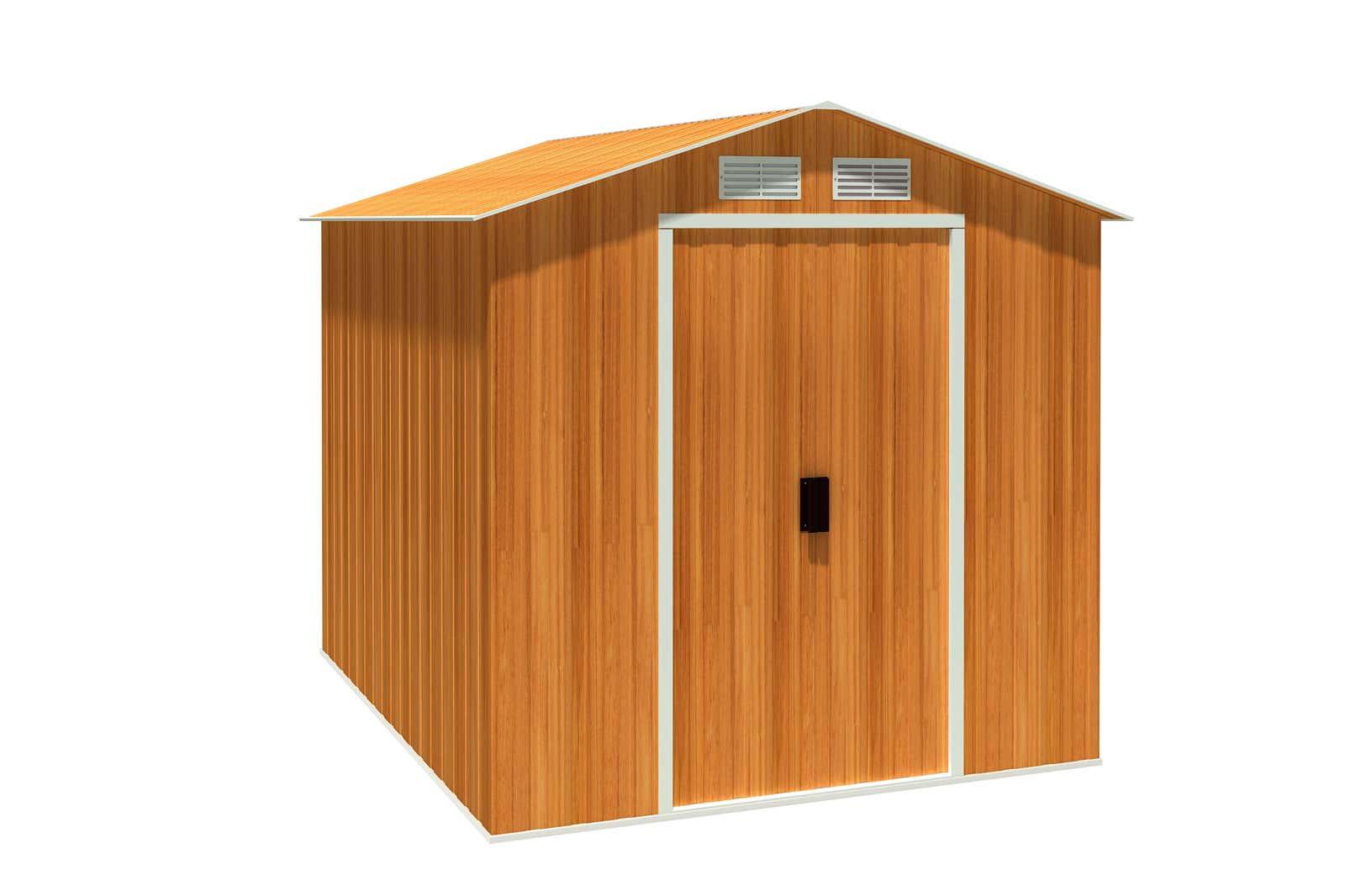 metallger tehaus riverton 6x8 holzoptik 7215 a z. Black Bedroom Furniture Sets. Home Design Ideas
