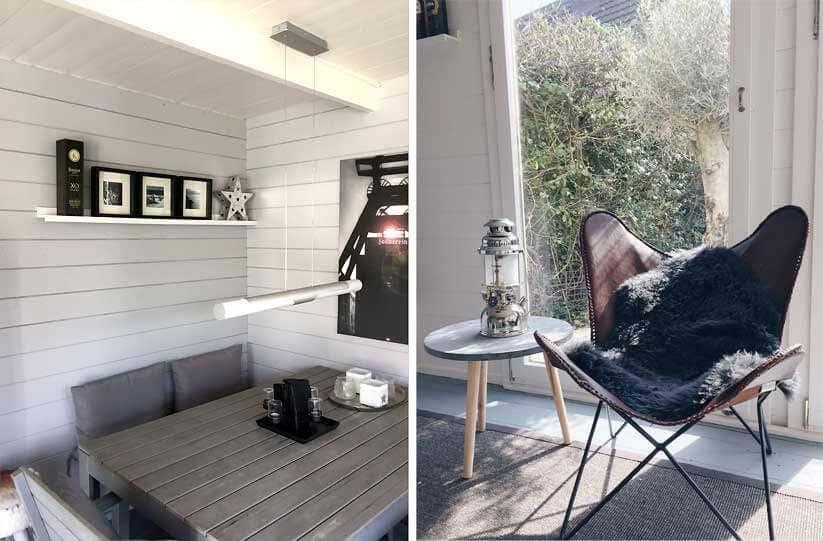 Gartenhaus Einrichten Modern Skandinavisch Mediterran