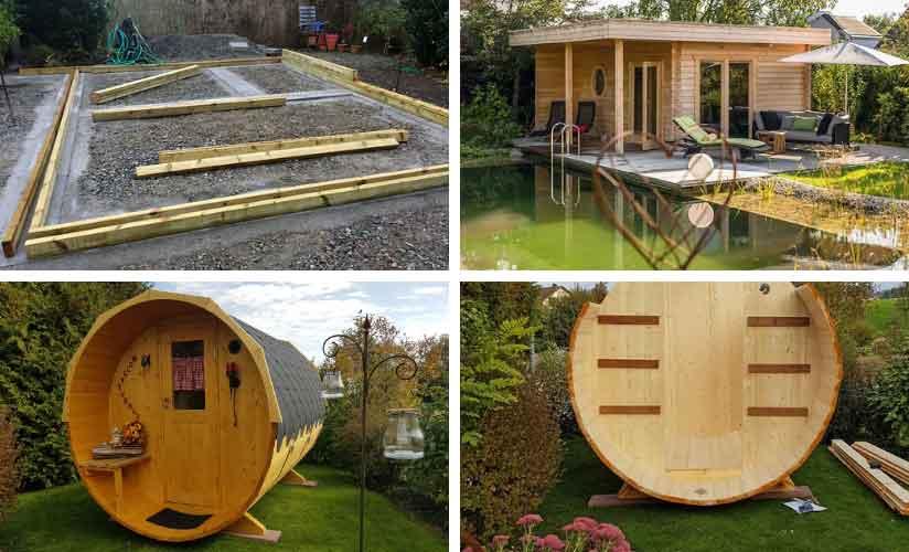 Sauna Fundament errichten
