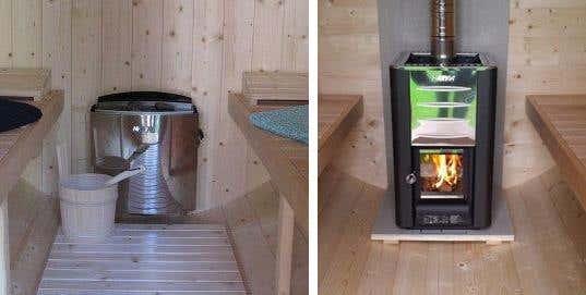 Saunaofen-Collage