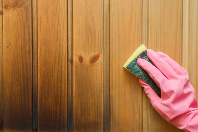Gartenhaus Holz reinigen