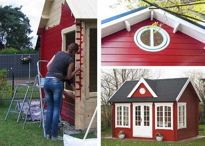 Fabulous Gartenhaus streichen: Schutz & Pflege durch Farbbehandlung ZB32