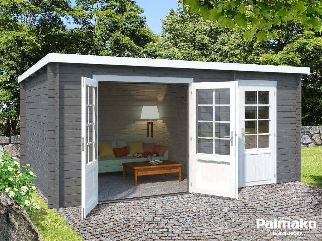 palmako gartenhaus ella 13 1 m mit schleppdach. Black Bedroom Furniture Sets. Home Design Ideas