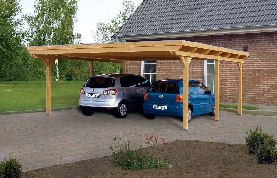 Carport Emsland 613 x 846 cm mit Abstellraum