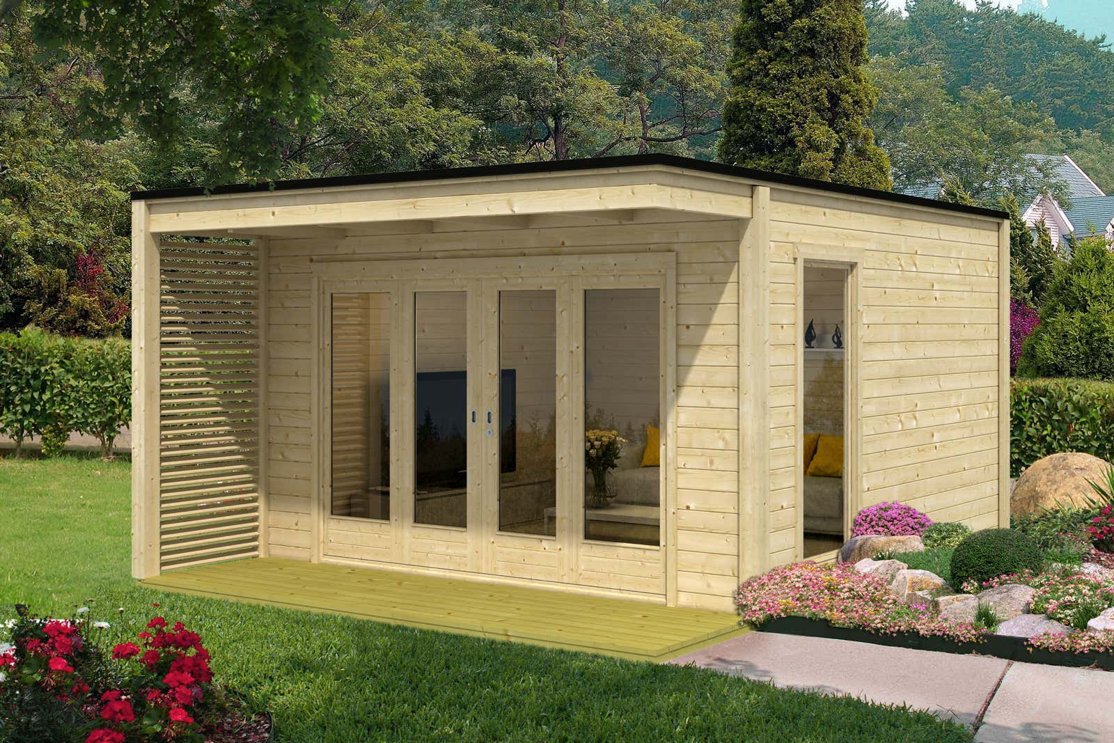 design gartenhaus cubus vio 40 a z gartenhaus gmbh. Black Bedroom Furniture Sets. Home Design Ideas