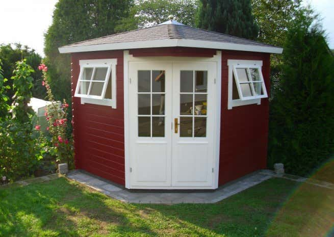 5-Eck Gartenhaus Modell Sunny-B 5-Eck Gartenhaus Modell Sunny-B