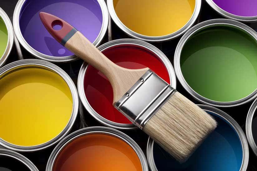 Farben Farbeimer Pinsel