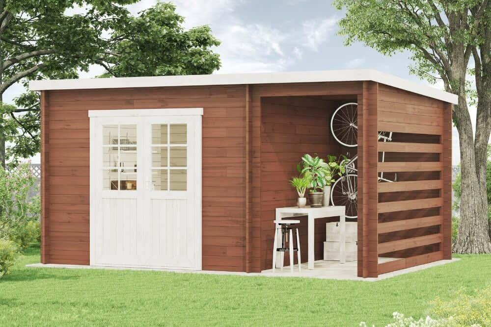 pultdach gartenhaus modell maria 28 compact