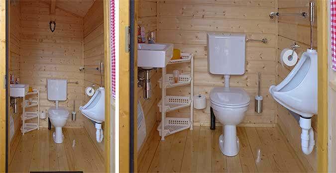 Gartenhaus Toilette Bad
