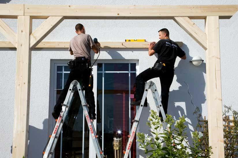 Terrassenüberdachung Aufbau Montage
