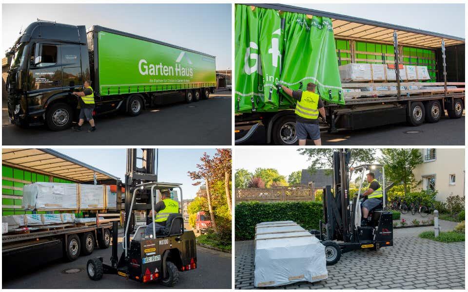 GartenHaus GmbH Anlieferung