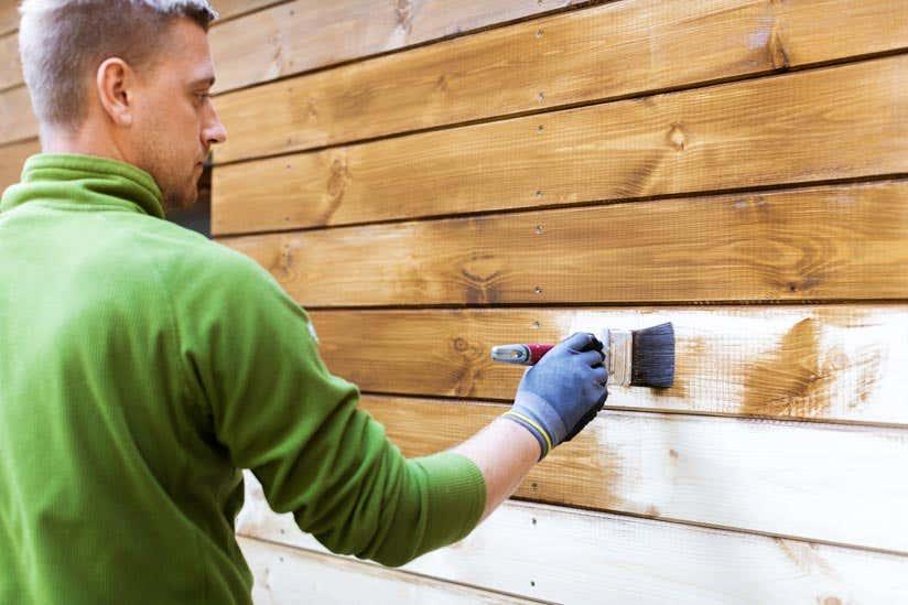Gartenhaus streichen Holz