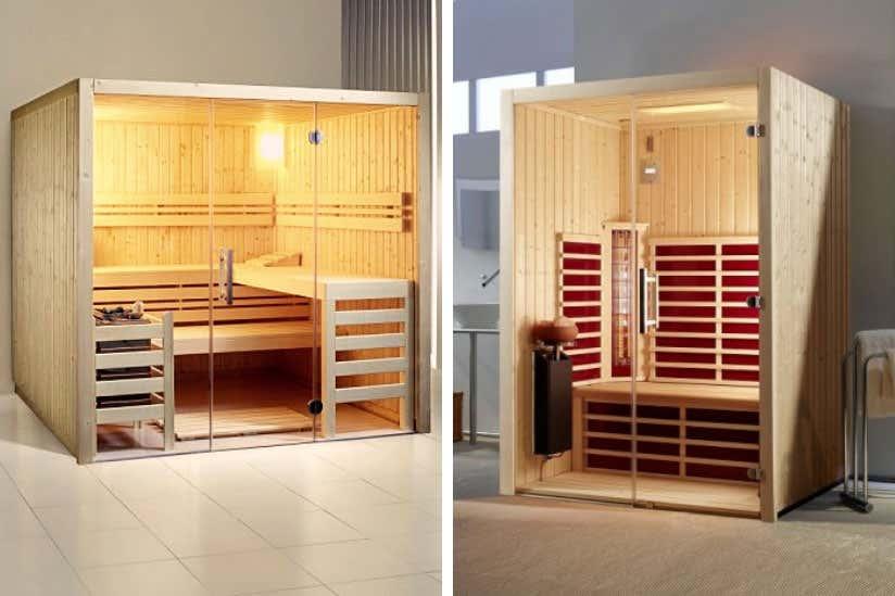 Infrarotkabine vs. Sauna