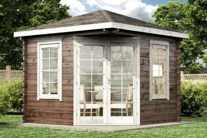 Gartenhaus Karibu 5 Eck