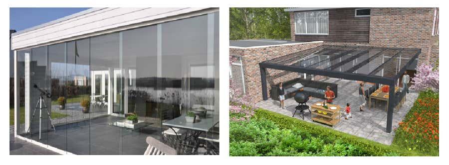 Terrassenüberdachung Glas Wintergarten