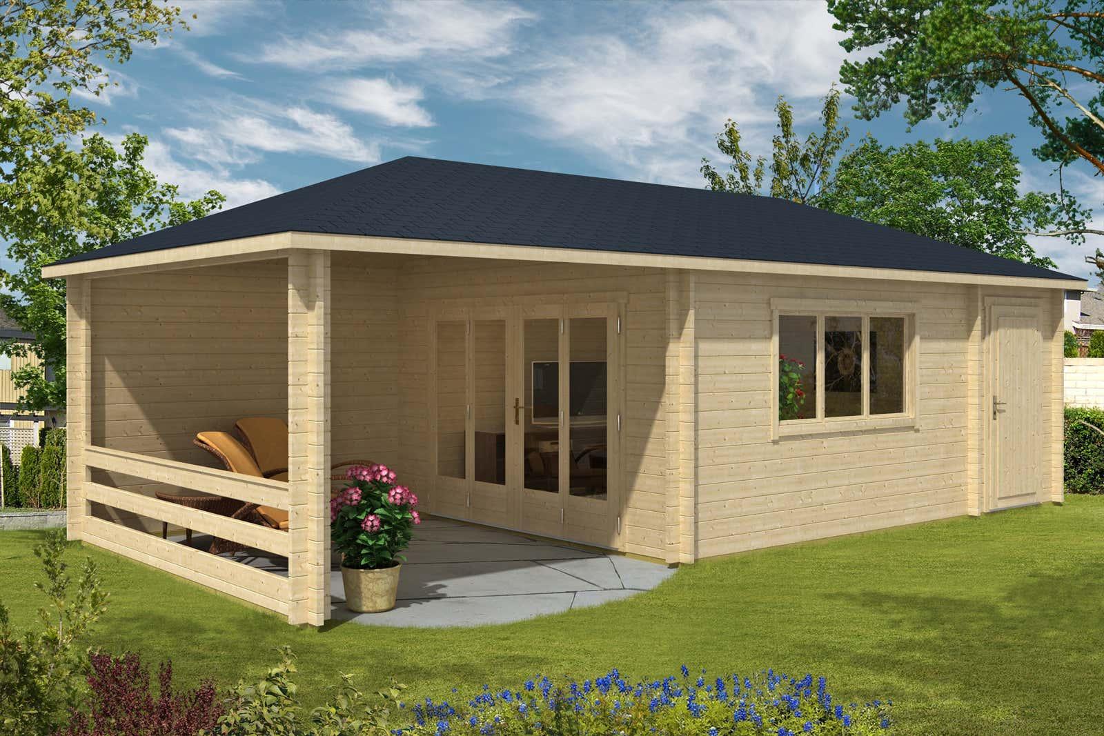 gartenhaus modell montana 44 mit anbau a z gartenhaus gmbh. Black Bedroom Furniture Sets. Home Design Ideas