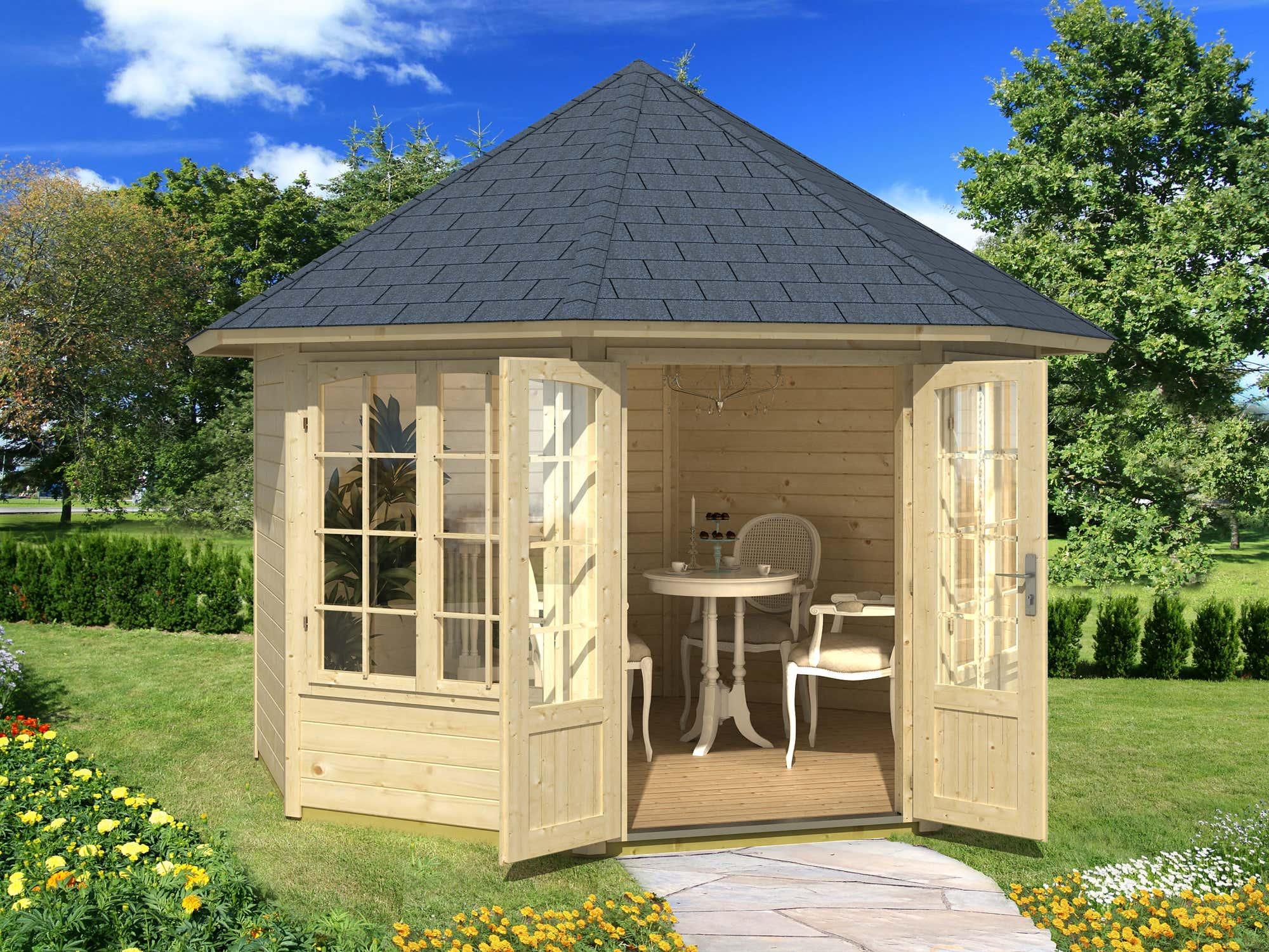 gartenhaus mit zwei r umen pultdach gartenhaus maria 28 mit anbau u schleppdach gartenhaus mit. Black Bedroom Furniture Sets. Home Design Ideas