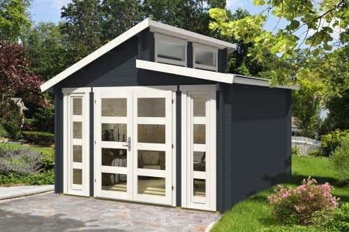 doppel pultdach gartenhaus modell vinea 40 impr gnierung ab werk ohne impr gni ebay. Black Bedroom Furniture Sets. Home Design Ideas