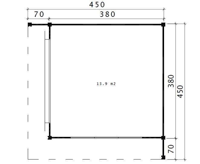 design gartenhaus cubus capri40 a z gartenhaus gmbh. Black Bedroom Furniture Sets. Home Design Ideas