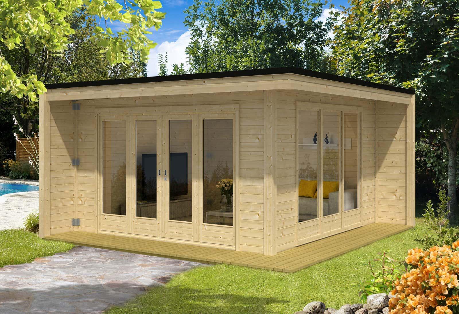 Design gartenhaus cubus capri40 a z gartenhaus gmbh - Gartenhaus design ...