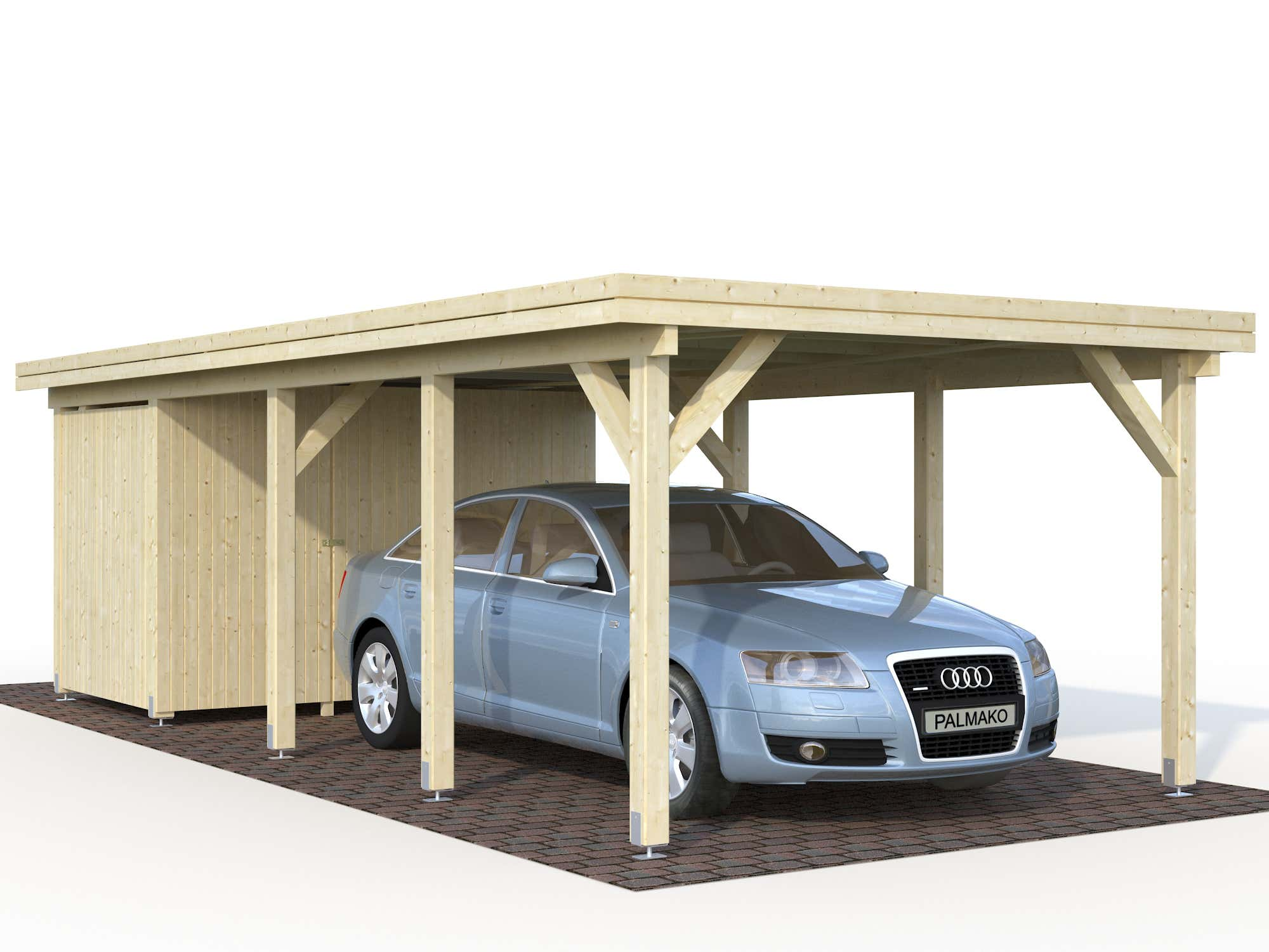 palmako carport karl 23 1 m cp3676 a z gartenhaus gmbh. Black Bedroom Furniture Sets. Home Design Ideas