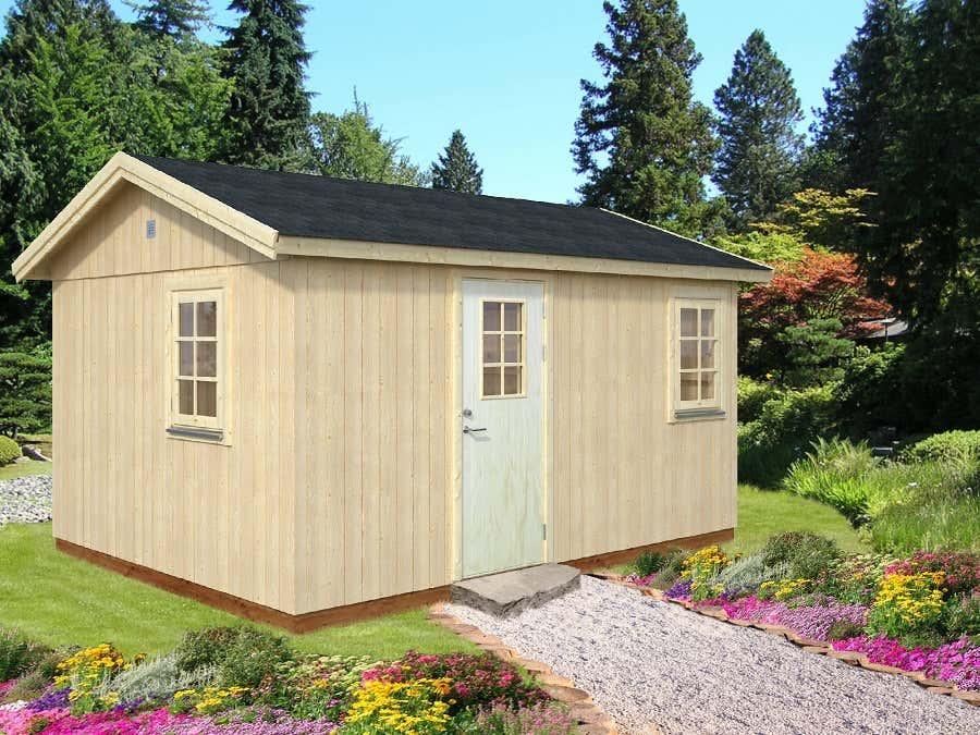 palmako nordic gartenhaus hedwig 13 8 m eld18 4633 a z. Black Bedroom Furniture Sets. Home Design Ideas