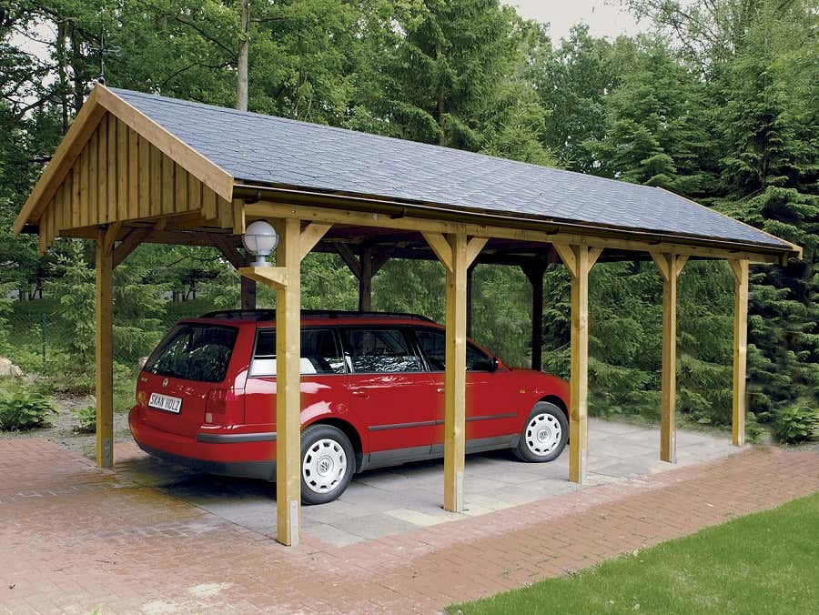 carport sauerland 430 x 900 cm mit dachschalung 321919 a z gartenhaus gmbh. Black Bedroom Furniture Sets. Home Design Ideas