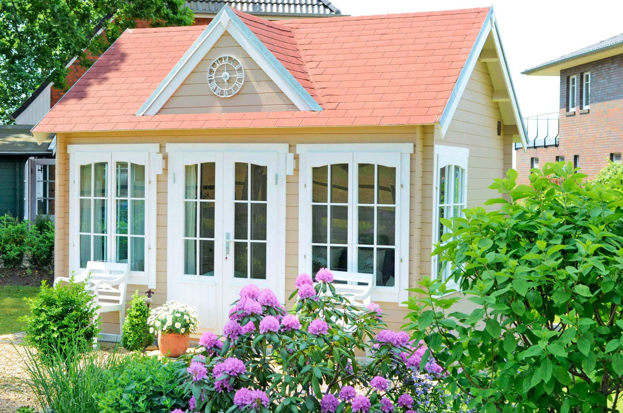 gartenhaus modell clockhouse 28 a z gartenhaus gmbh. Black Bedroom Furniture Sets. Home Design Ideas