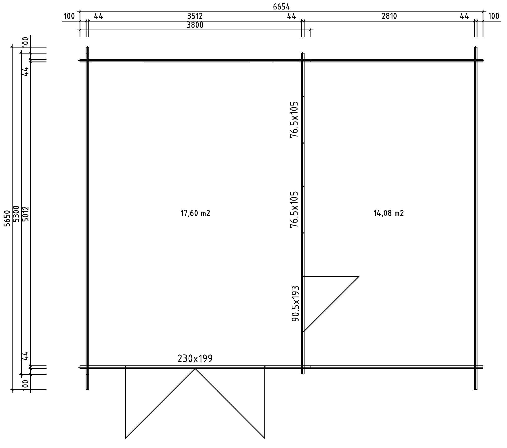 holzgarage mit carport 44 iso a z gartenhaus gmbh. Black Bedroom Furniture Sets. Home Design Ideas