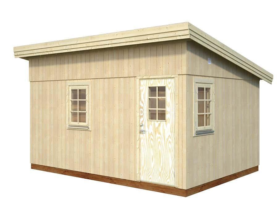 palmako nordic gartenhaus ethel 13 8 m eld18 4533 2 a z. Black Bedroom Furniture Sets. Home Design Ideas