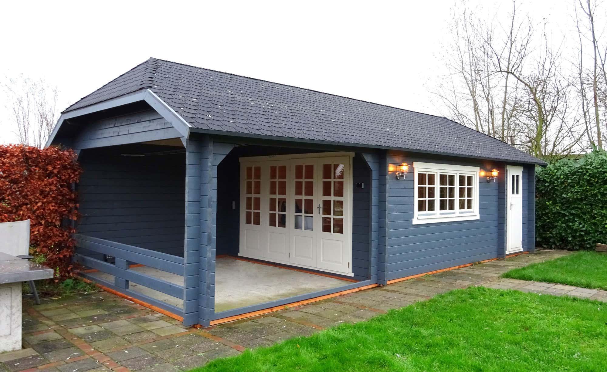Gartenhaus modell wolfskappe 50 b mit ger teraum 4x4 3a - Gartenhaus 30 qm ...