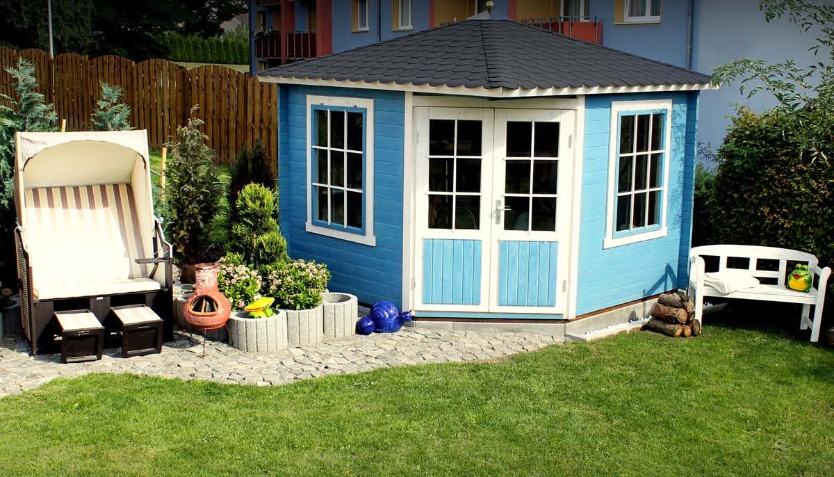5 eck gartenhaus modell monica 40 5 eck gartenhaus modell. Black Bedroom Furniture Sets. Home Design Ideas