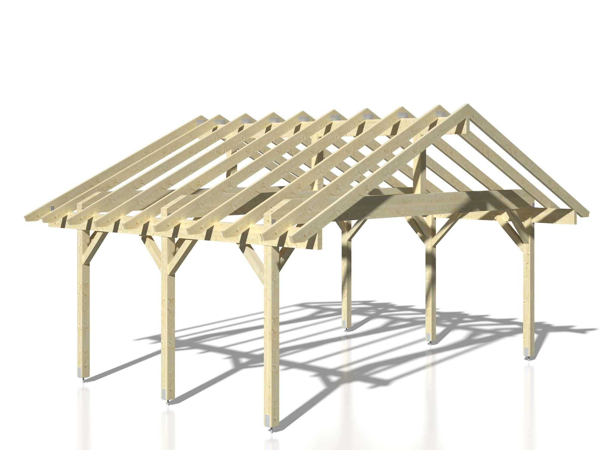 palmako carport robert 20 6 m cp5637 a z gartenhaus gmbh. Black Bedroom Furniture Sets. Home Design Ideas