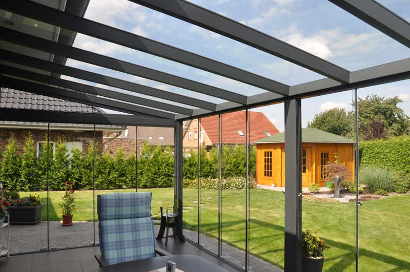 glasschiebewand 300 cm a z gartenhaus gmbh. Black Bedroom Furniture Sets. Home Design Ideas