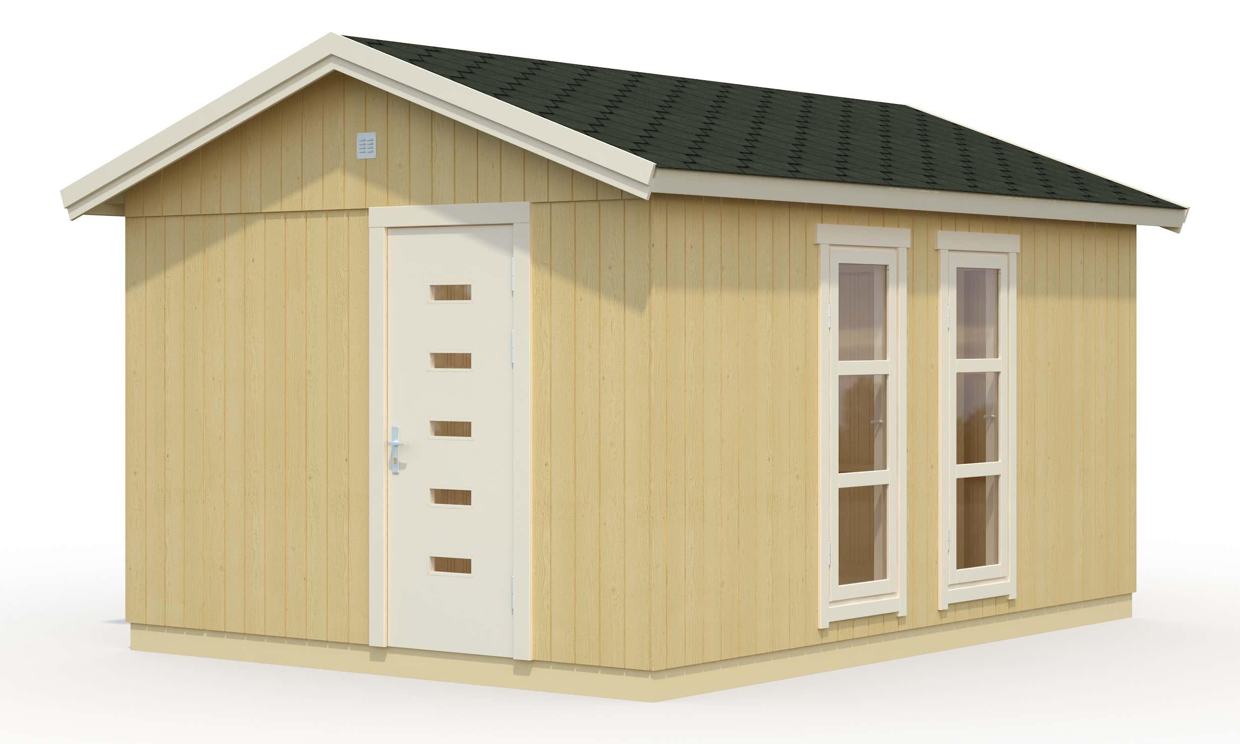 palmako nordic gartenhaus ly 13 8 m eld18 3345 a z. Black Bedroom Furniture Sets. Home Design Ideas
