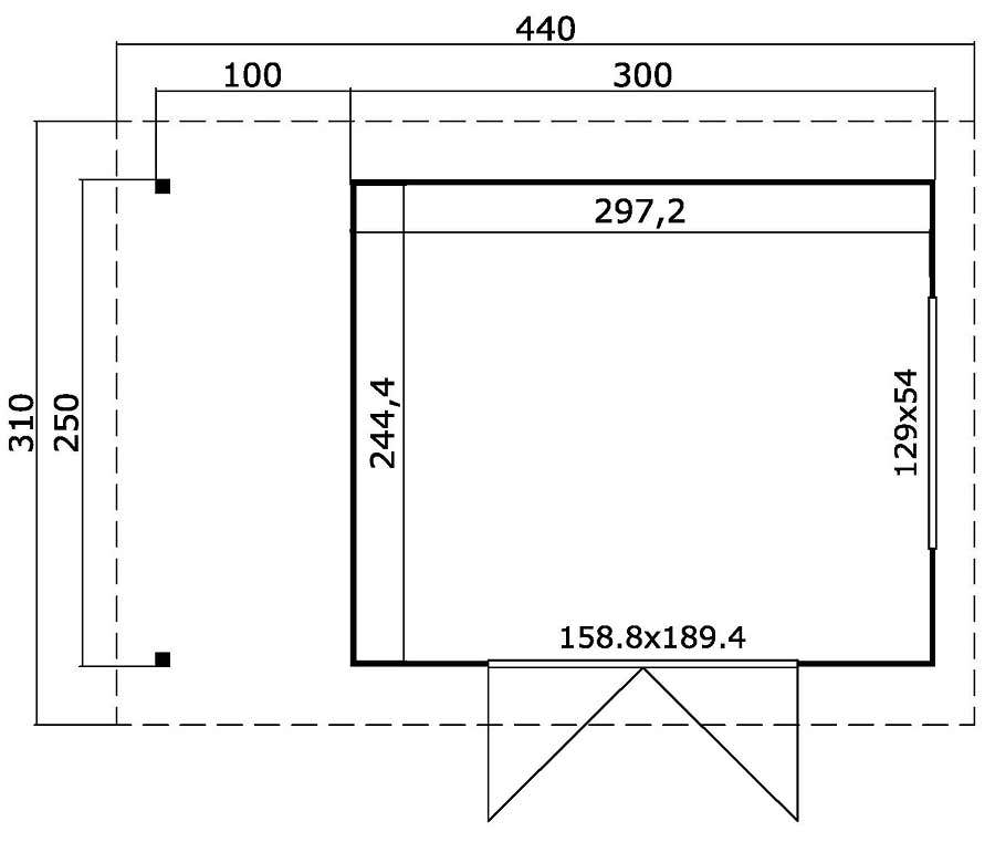 lasita maja gartenhaus faro 2 mit schleppdach 290500 a z. Black Bedroom Furniture Sets. Home Design Ideas