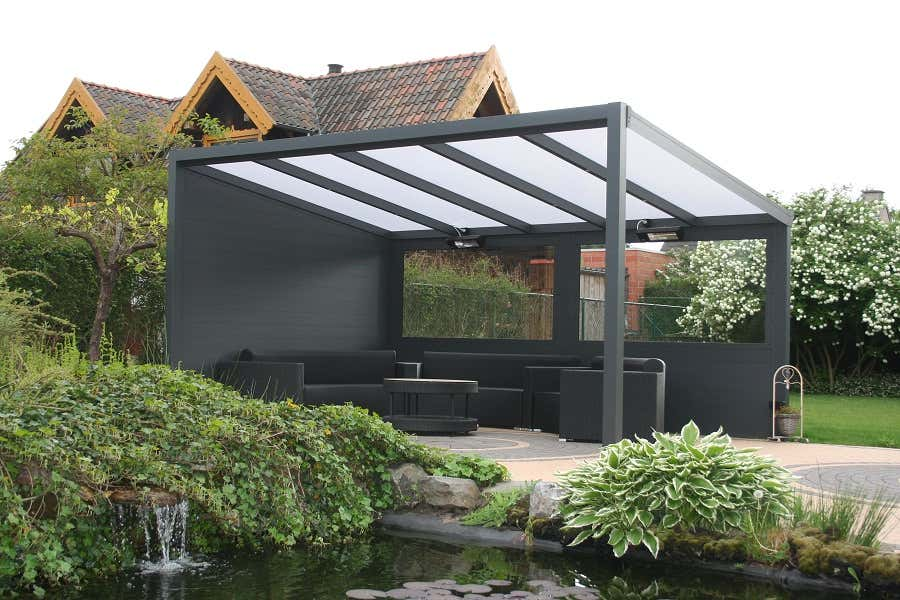 terrassen berdachung freistehend 300 x 300 cm a z gartenhaus gmbh. Black Bedroom Furniture Sets. Home Design Ideas