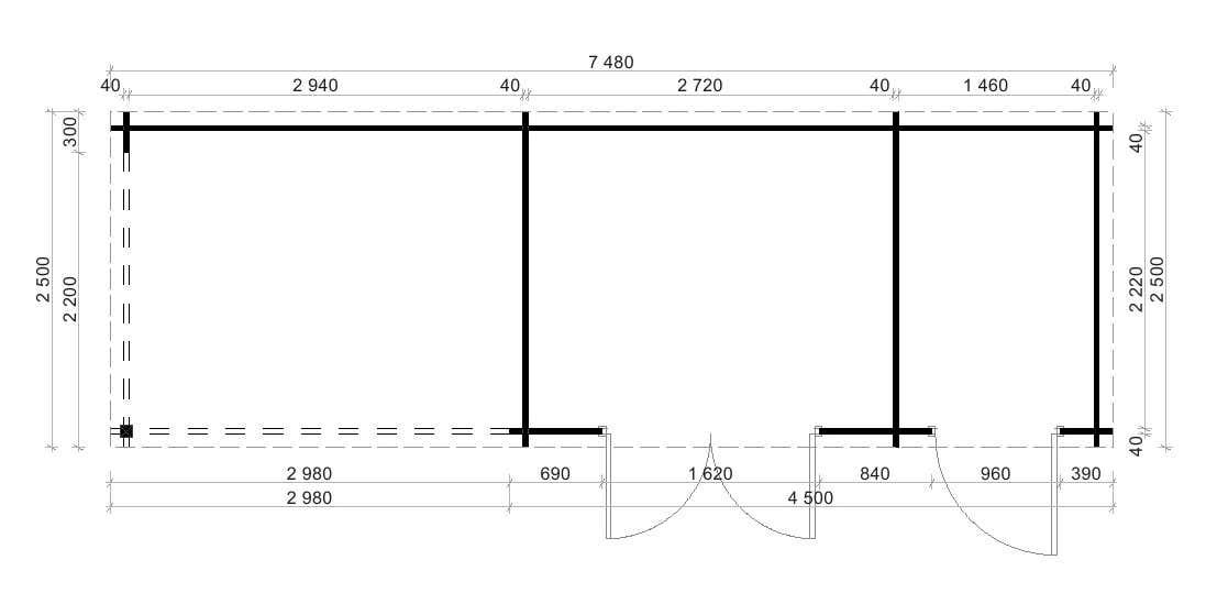 flachdach gartenhaus neustadt 40 mit anbau gartenhaus. Black Bedroom Furniture Sets. Home Design Ideas