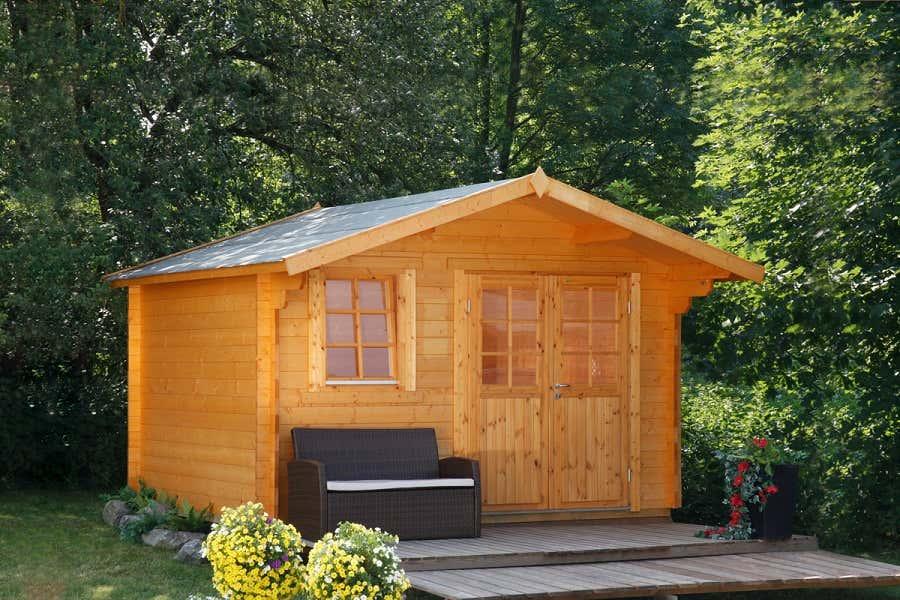 wolff gartenhaus oslo 34 g klassik 834 320 a z. Black Bedroom Furniture Sets. Home Design Ideas
