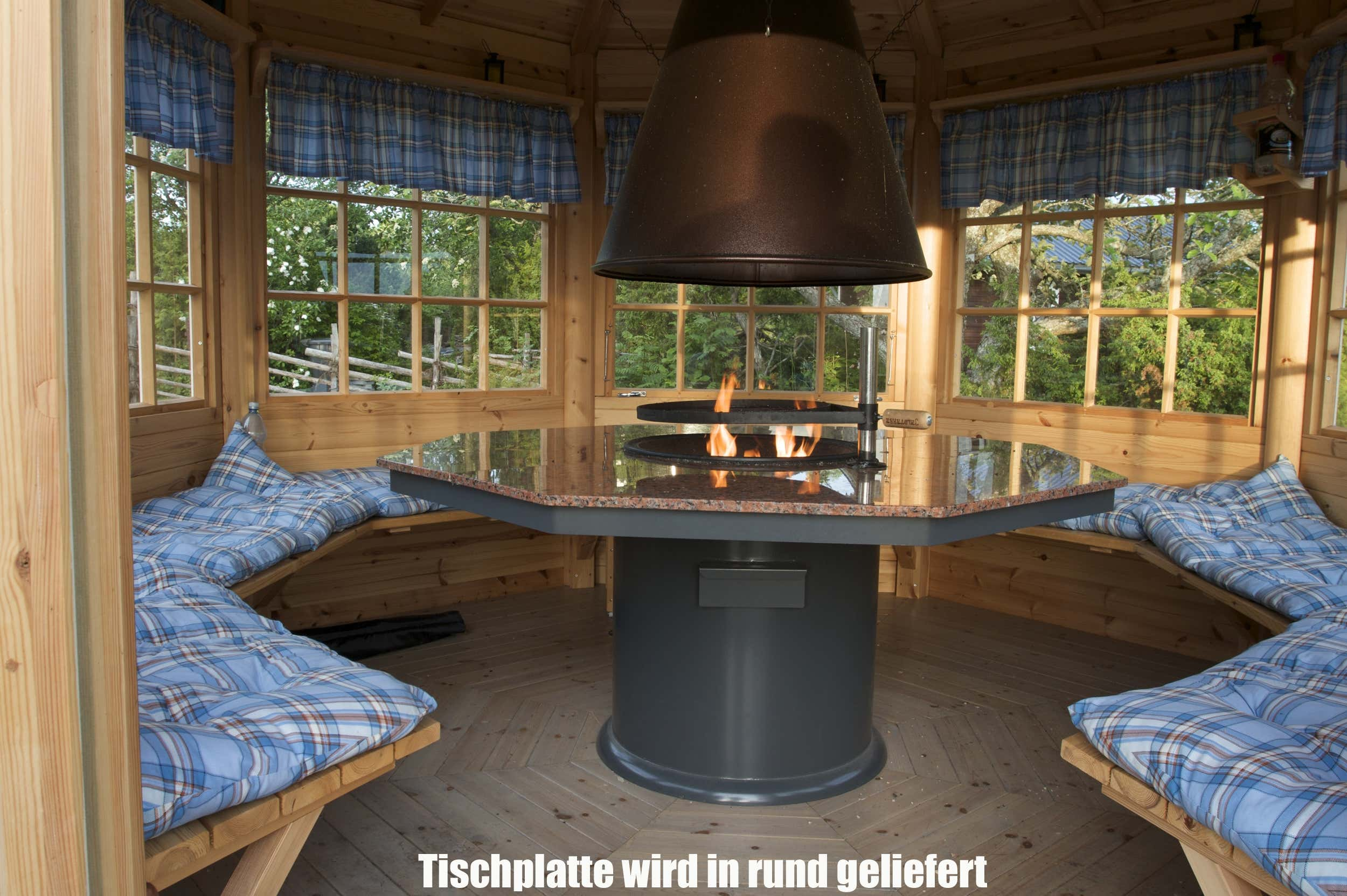 8 eck grillpavillon scandia 9m a z gartenhaus gmbh. Black Bedroom Furniture Sets. Home Design Ideas