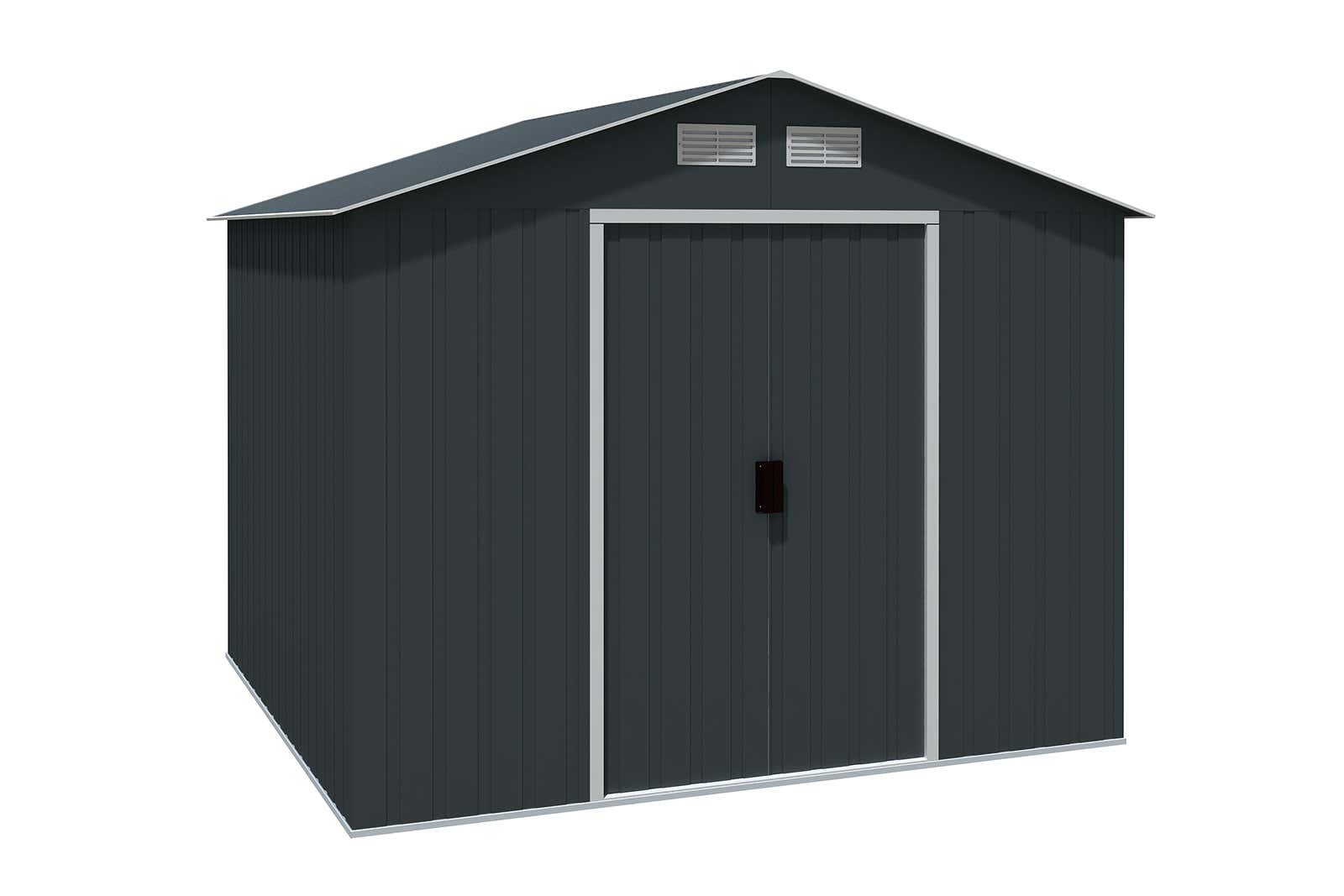 metallger tehaus titan 8x8 anthrazit 7244 a z gartenhaus gmbh. Black Bedroom Furniture Sets. Home Design Ideas