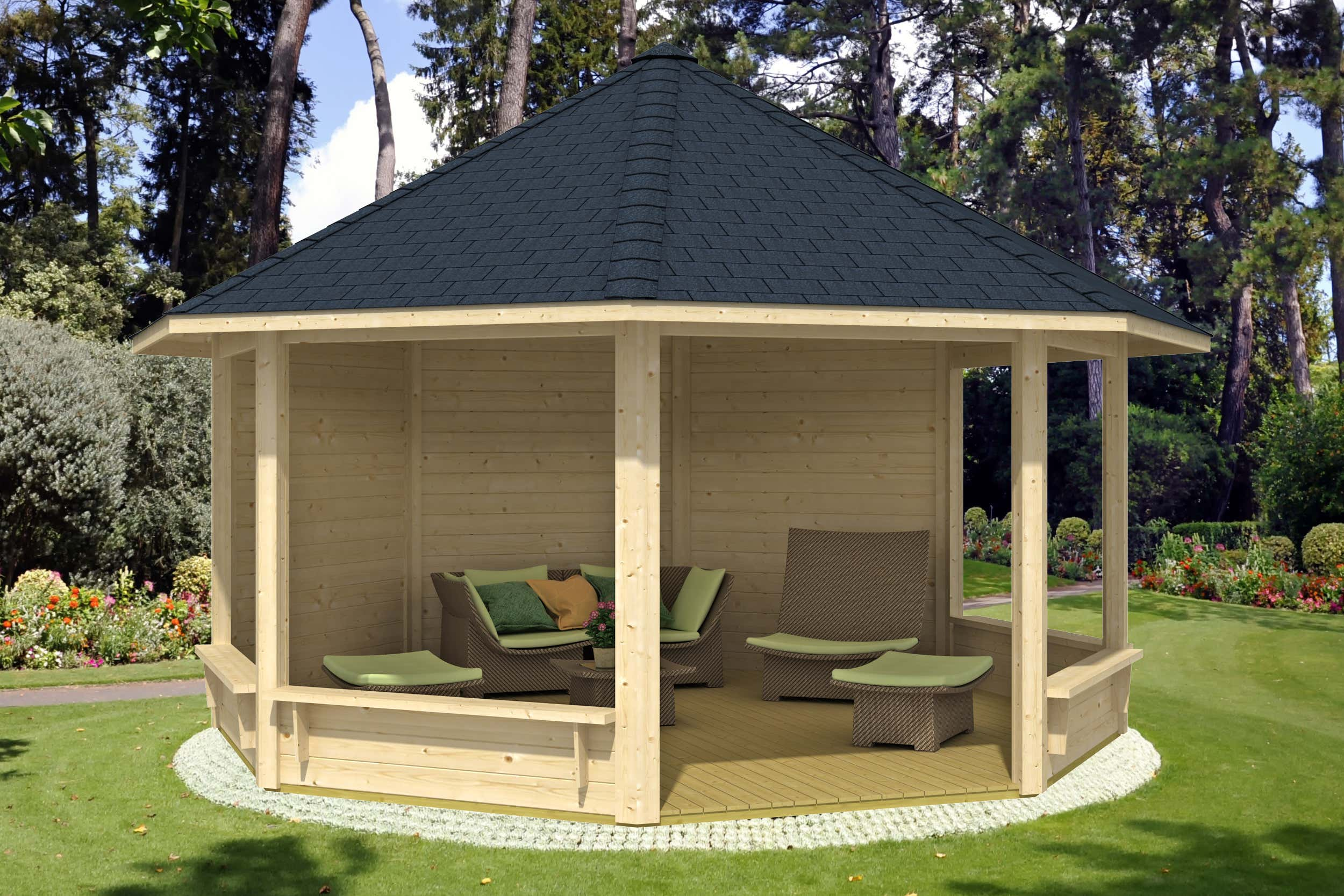 gartenpavillon modell pellworm a z gartenhaus gmbh. Black Bedroom Furniture Sets. Home Design Ideas