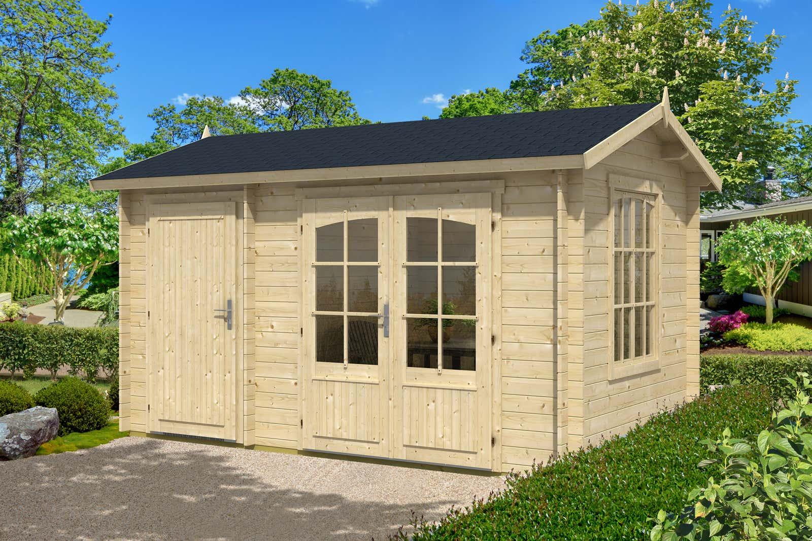 2 raum gartenhaus bolton 28 a z gartenhaus gmbh. Black Bedroom Furniture Sets. Home Design Ideas